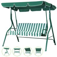 Deals on SKONYON Outdoor Patio Swing Chair Canopy Swing w/Cushion