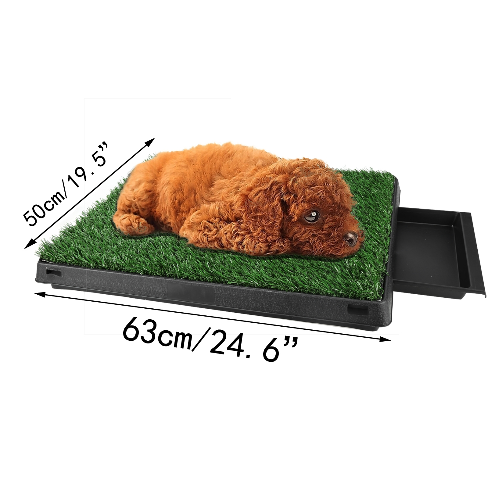 Pet Dog Training Pee Turf Grass Pad Zoom Park Potty Patch Mat Anti ...