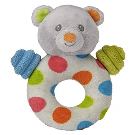 Teddy Rattle - Mary Meyer Baby Confetti Teddy Ring Rattle, 5