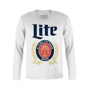 Tee Luv Miller Lite Long Sleeve Beer T-Shirt
