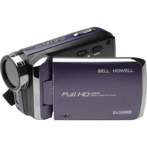 "Bell+howell Digital Camcorder - 3"" - Touchscreen Lcd - Full Hd - Purple - 16:9 - 20 Megapixel Image - H.264/mpeg-4 Avc, Avchd - 8x Digital Zoom - Electronic [is] - Video Light, Microphone, (dv30hd-p)"