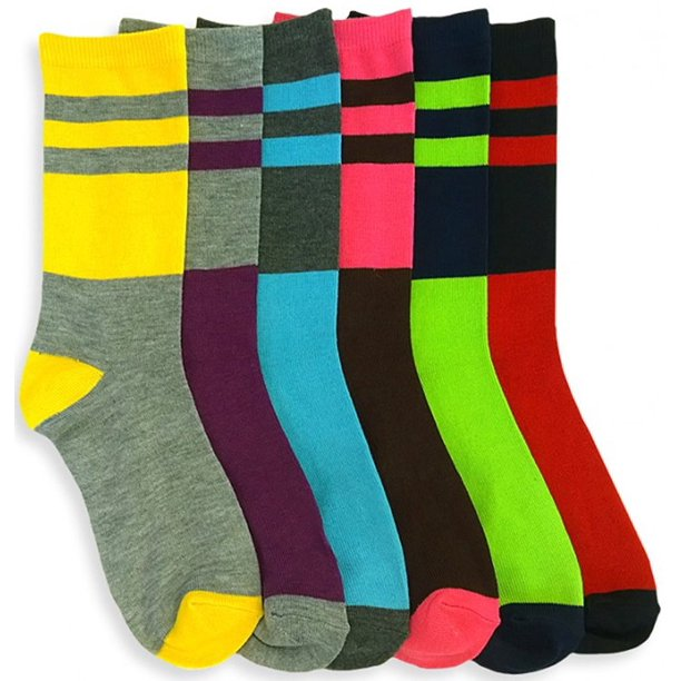 ToBeInStyle Women's Pack of 12 Crew Socks - 2L - Size 9-11