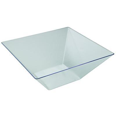 large square clear plastic bowls case of 24. Black Bedroom Furniture Sets. Home Design Ideas