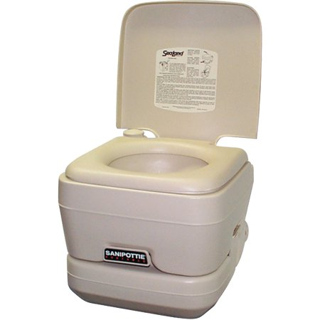 SeaLand 25 Gallon Adult Size SaniPottie 962 Portable Toilet With Bellows Flush