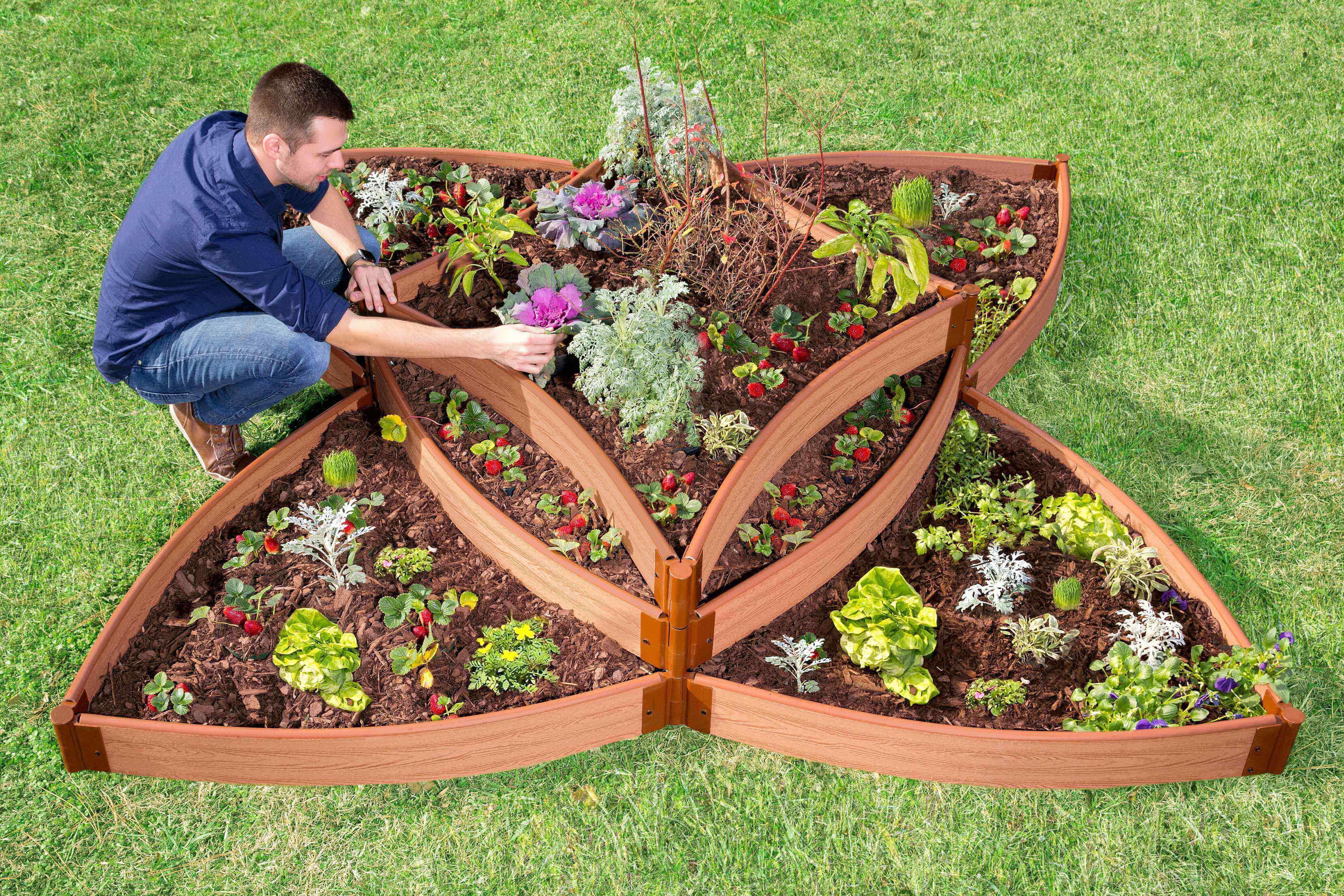 Frame It All Classic Sienna Raised Garden Bed Versailles Sunburst ...