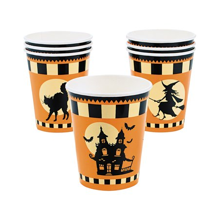 Fun Express - Halloween Silhouette 9oz Cups for Halloween - Party Supplies - Print Tableware - Print Cups - Halloween - 8 - Halloween Express Store Hours