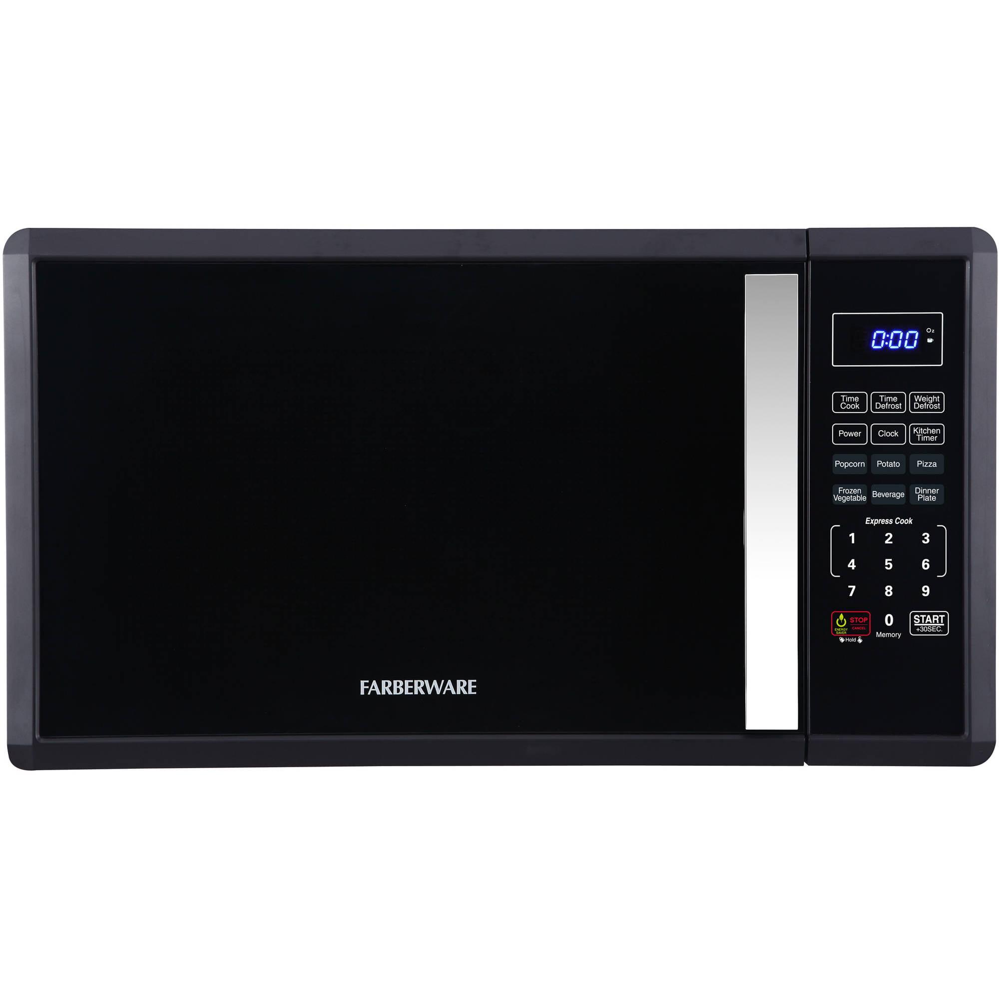 Farberware 1.1 cu ft Soft Touch 1000-Watt Microwave, Black