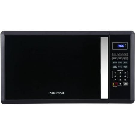 Farberware 1.1 cu ft Soft Touch 1000-Watt Microwave, Black (Farberware Microwave)
