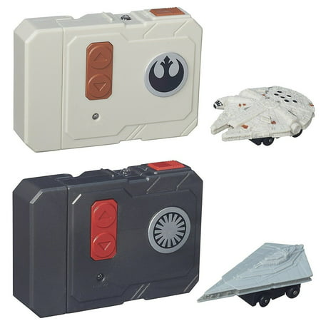 Star Wars The Force Awakens Micro Machines Millennium Falcon + First Order Star Destroyer RC Vehicles - 2pc Set](Millennium Falcon Rc)