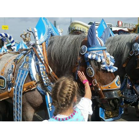 LAMINATED POSTER Team Oktoberfest Wagon Beer Car Transport Horse Poster Print 24 x 36 ()