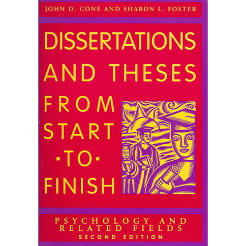 Dissertations and theses from start to finish (apa 2006)