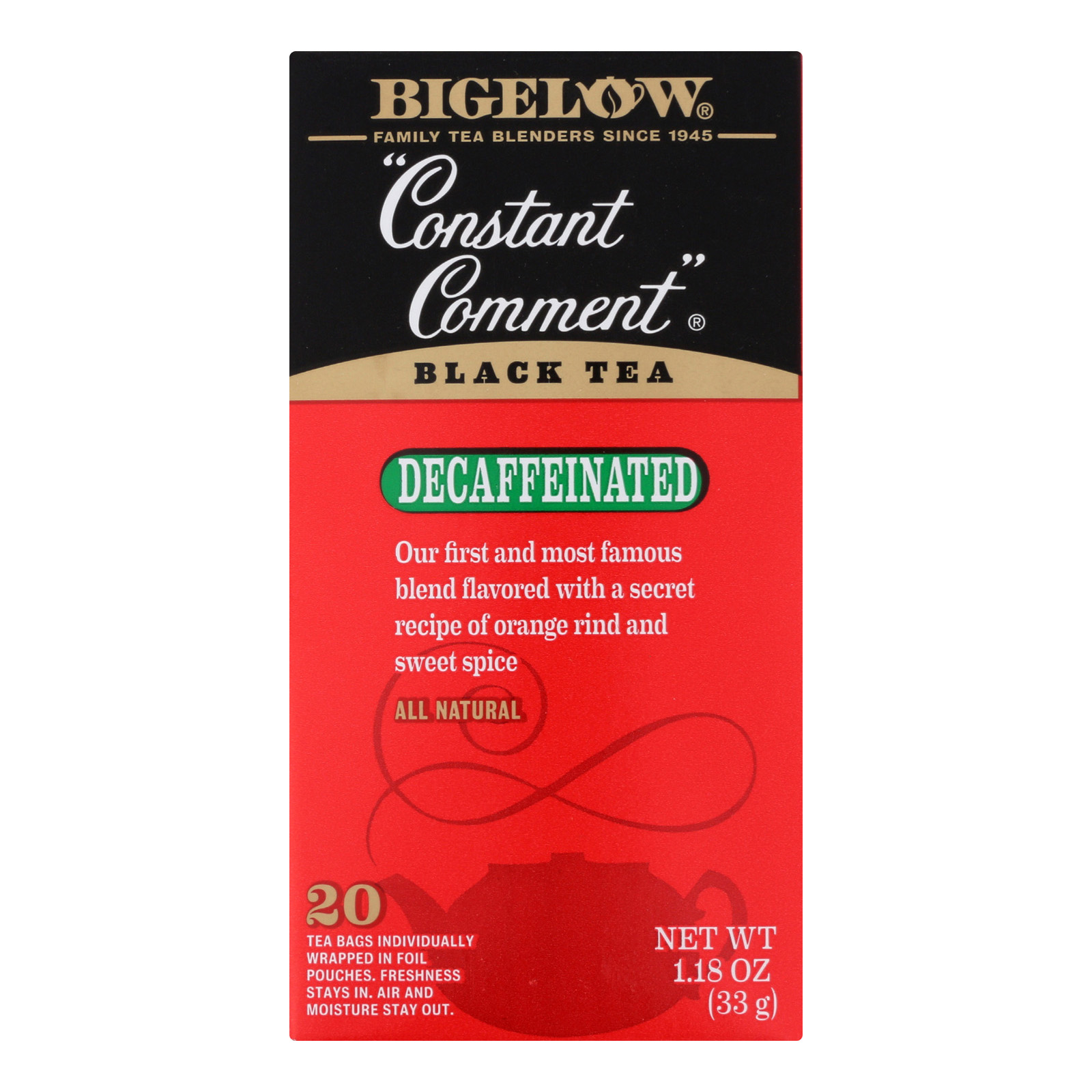 Bigelow Constant Comment Black Tea Decaffeinated 20 CT by R.C. Bigelow, Inc.