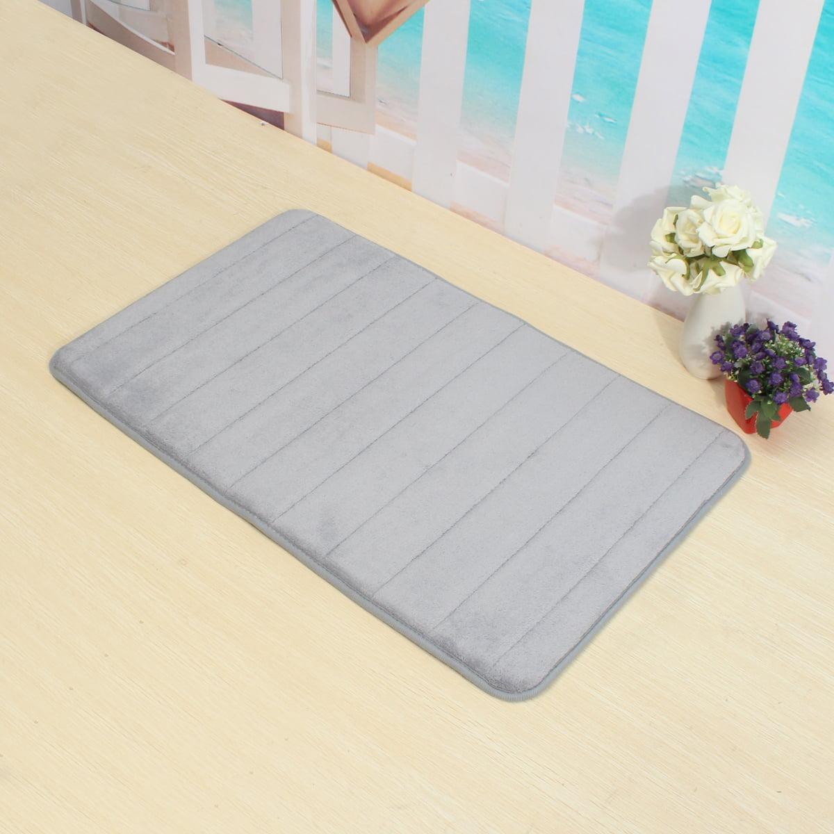 "24""x16"" Microfibre Bath Doormat Rug Memory Foam Mat Bathroom Shower Bedroom Carpet With Non Slip Back - 11 Colours"