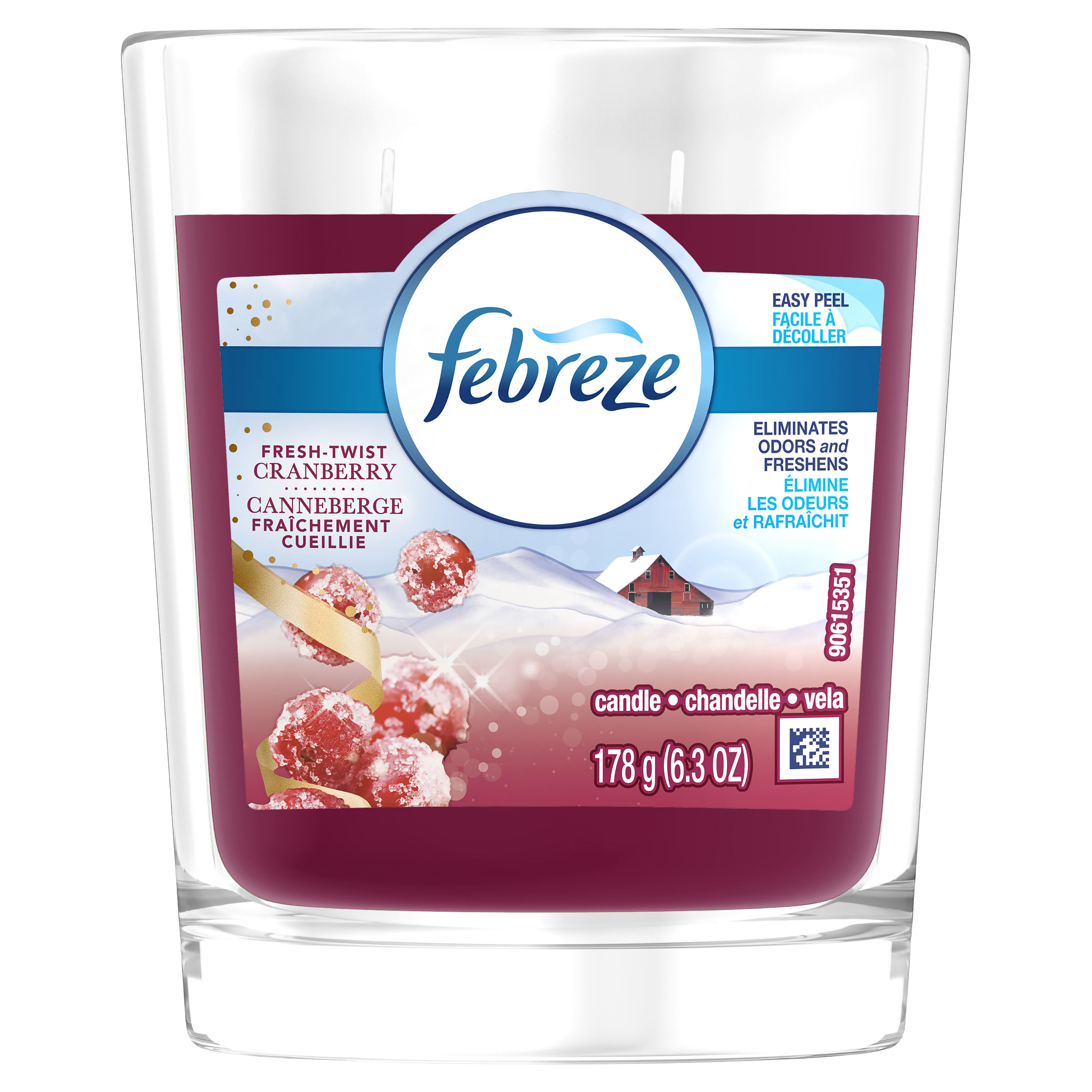 Febreze Candle, Fresh-Twist Cranberry, 6.3 oz by Procter & Gamble