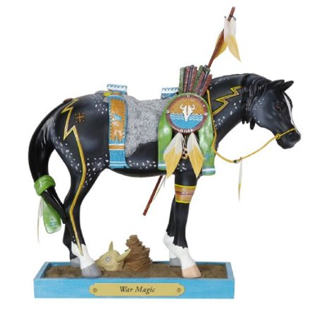 Trail of Painted Ponies War Magic Pony Horse Figurine 6002977 (War Horse Figurine)