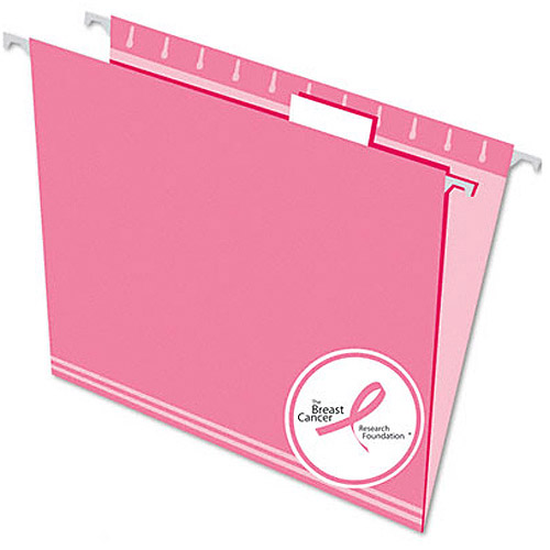 Esselte Pendaflex Hanging File Folders, 1/5 Tab, Letter, Pink, 25/Box