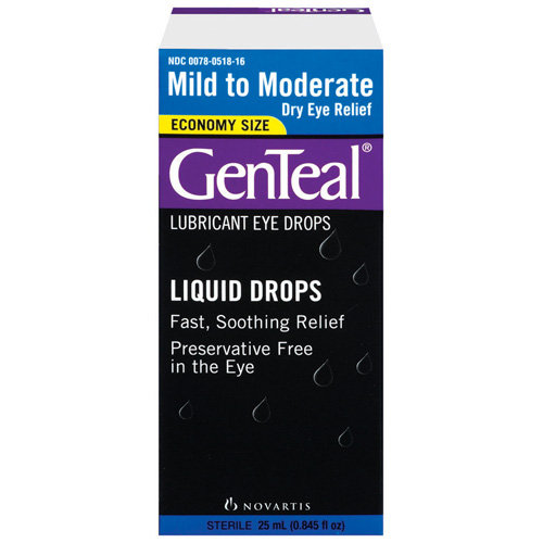 GenTeal(R): Mild To Moderate Dry Eye Relief Lubricant Eye Drops, 25 mL