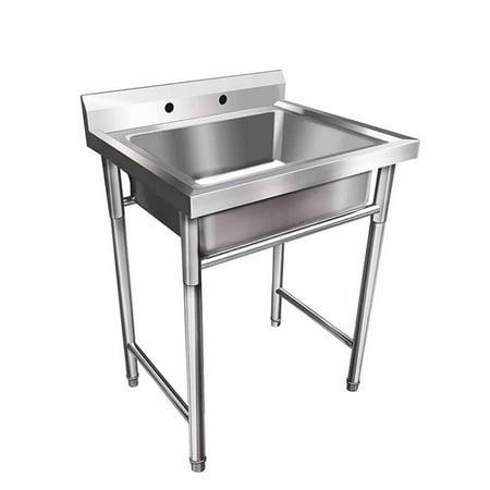 Utility Sink.Ubesgoo 30 Wide Commercial Grade Stainless Steel Utility Sink Restaurant Sink Laundry Tub For Washing Room Kitchen Workshop Basement Garage