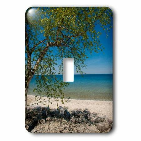 3dRose USA, Michigan. Mackinac Island rocky beach., Single Toggle (Michigan Single)