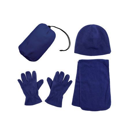 Simplicity Men And Womens Beanie Hat Gloves And Scarf Fleece Winter Set