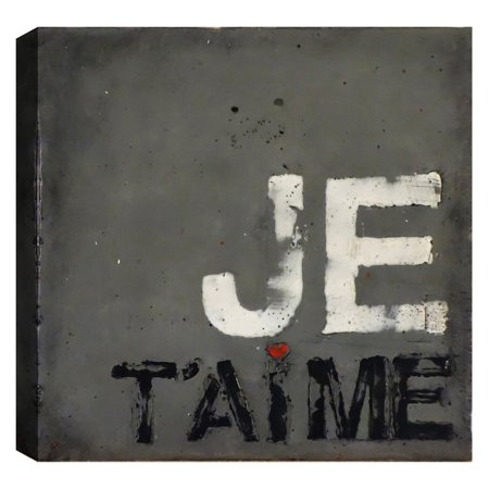 ArtMaison Canada French Phrase - I Love You Wall Art (French Canada)