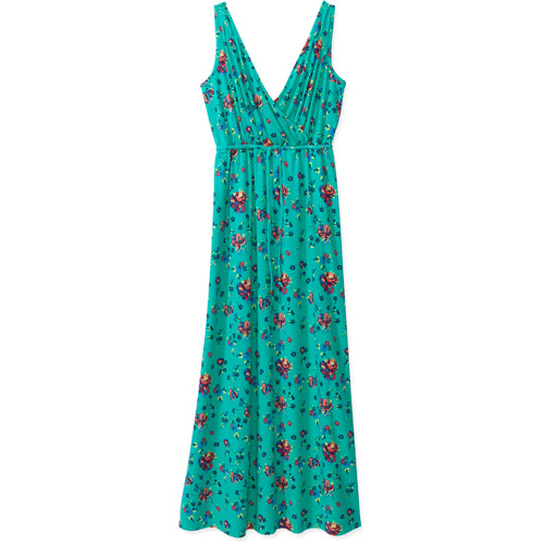 Concepts Women's Surplice Knit Maxi Dress with Tie At Waist