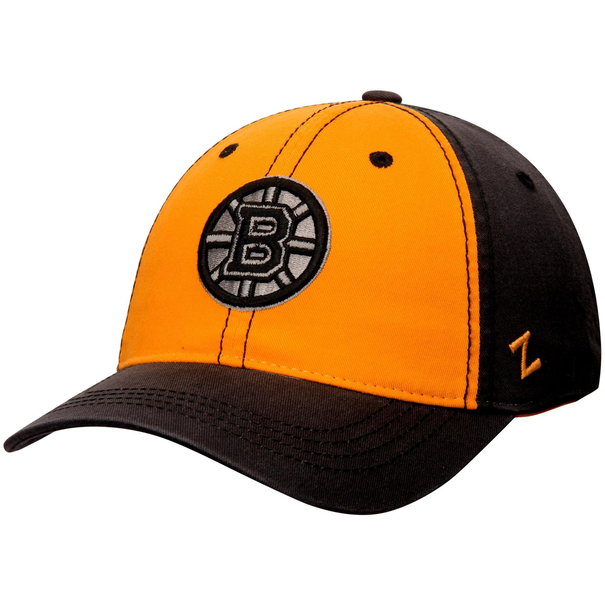 Boston Bruins Zephyr Cobalt Slouch Adjustable Hat - Gold/Charcoal - OSFA