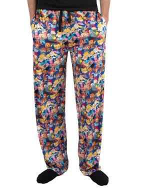 Nickelodeon Men's 90s Retro Character Pajama Pant