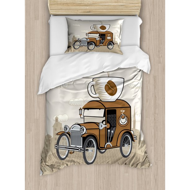 Cars Duvet Cover Set Old Fashioned Car, Old Fashioned Car Bedding