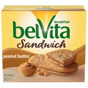 belVita Sandwich Peanut Butter Breakfast Biscuits, 5 Packs (2 Sandwiches Per Pack)