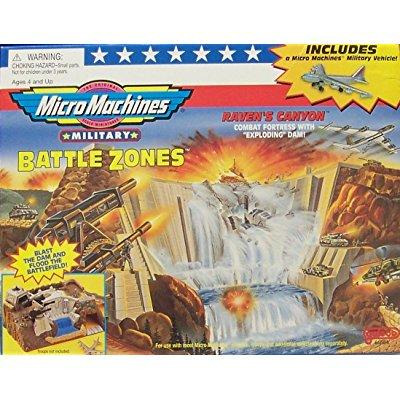 Micro Machines Military Battle Zones Raven's Canyon Playset by