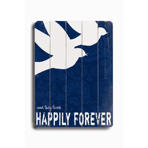 Artehouse LLC Happily Forever by Lisa Weedn Graphic Art Plaque