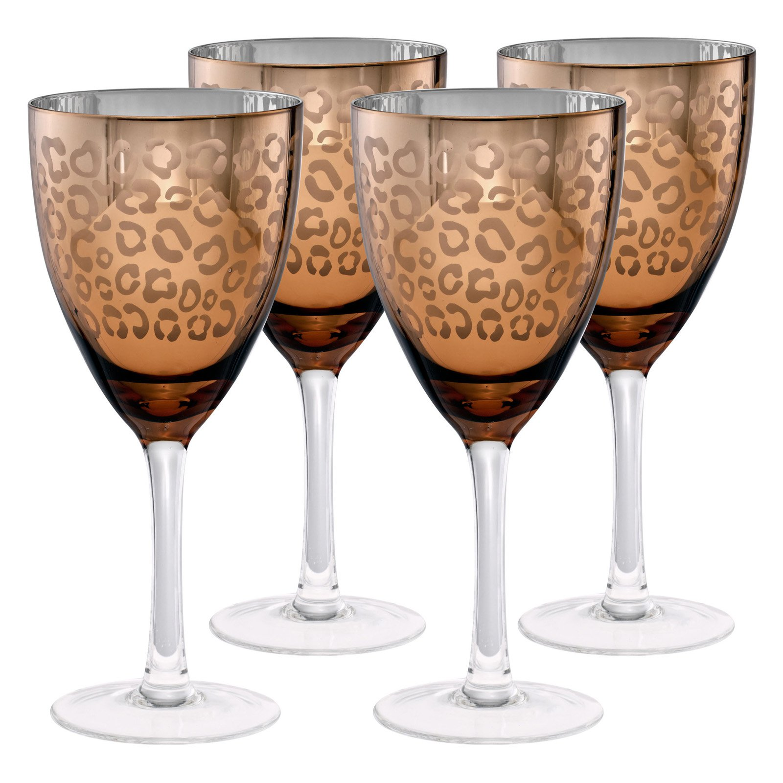 Artland Inc. Leopard Gold Wine Glasses Set of 4 by Artland