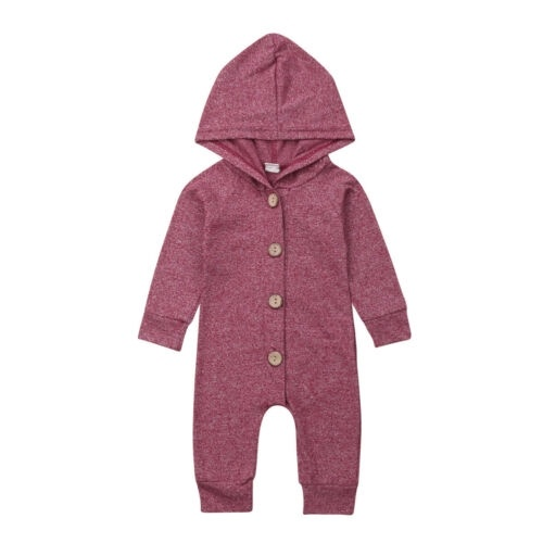 Kids Baby Boy Girl Infant Romper Jumpsuit Bodysuit Hooded Clothes Sweater Outfit