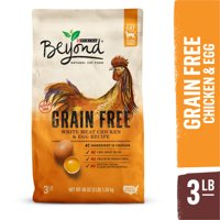 Purina Beyond Grain Free, Natural Dry Cat Food, Grain Free White Meat Chicken & Egg Recipe, 3 lb. Bag