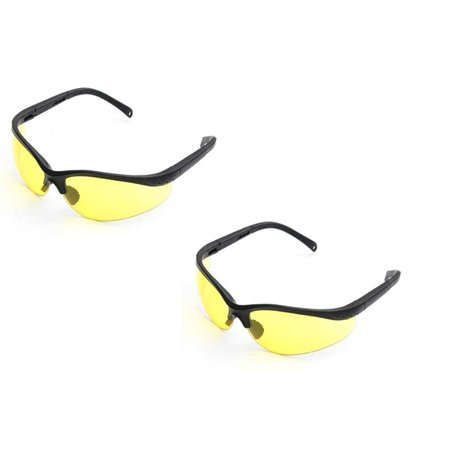 UV Protecting Adjustable Safety Glasses Yellow Tint,7821 (2 (Yellow Safety Glasses)