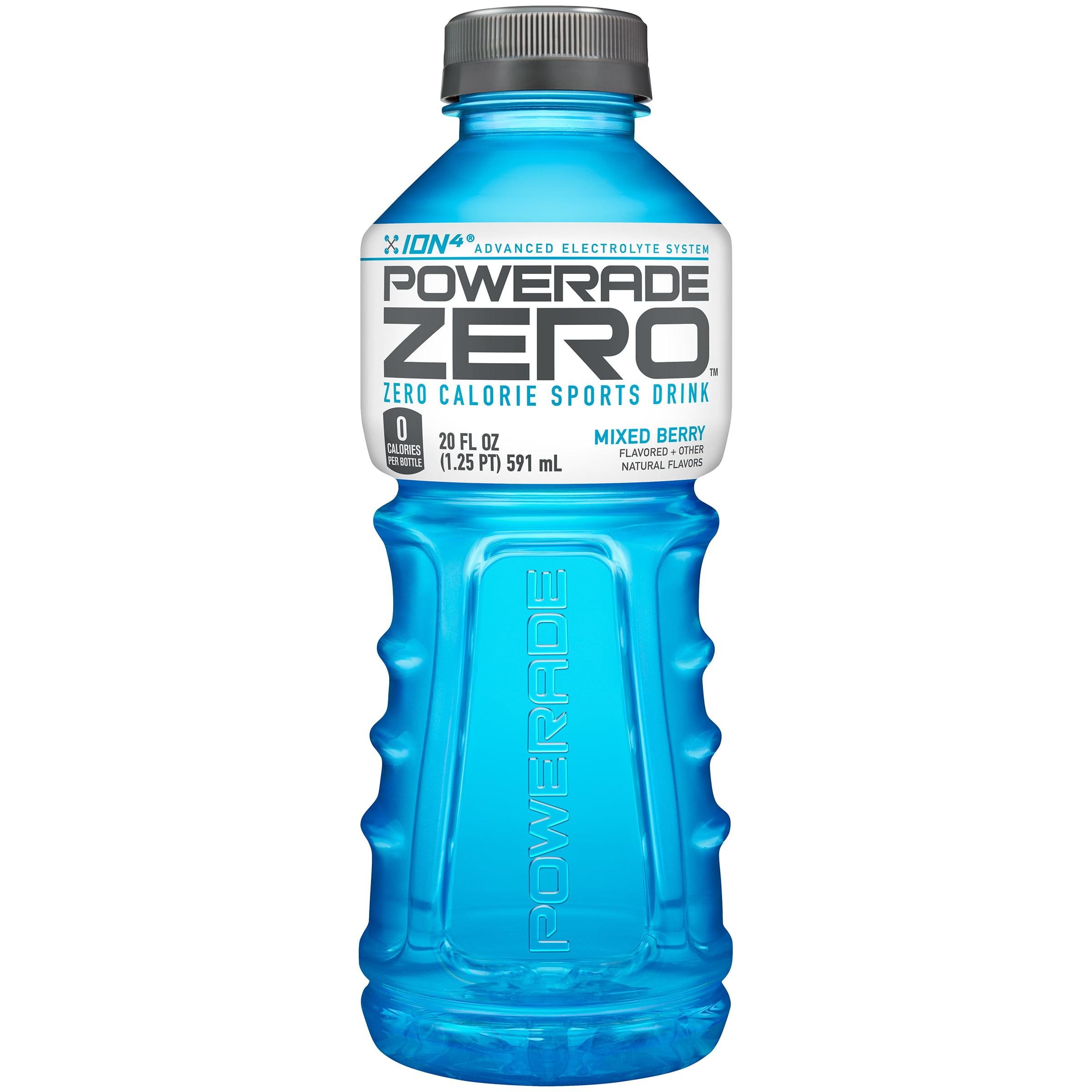 POWERADE ZERO Sports Drink, Mixed Berry, 20 Fl Oz, 24 Ct