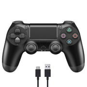 OEM PS4 Wireless Console Bluetooth PS4 Controller Handle Joystick with Vibration Turbo/Built-in Speaker/USB Cable/Mini LED (Black)