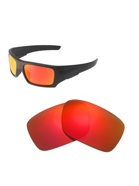 b4e1eda37c9 Product Image Walleva Fire Red Polarized Replacement Lenses for Oakley Det  Cord(OO9253 Series) Sunglasses