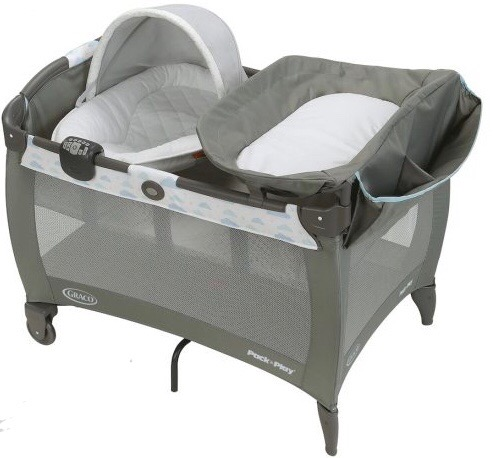 Graco Pack 'n Play Newborn Napper Playard, Grey