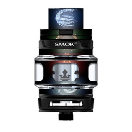 Skin Decal Vinyl Wrap for Smok TFV12 Prince Tank Vape Kit skins stickers cover/ Elements Water Earth Fire Air ()