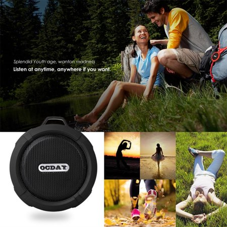 OCDAY C6 Plastic Portable Wireless Speaker With Calls Handsfree and Suction Cup Waterproof Shower Speaker - image 2 of 4