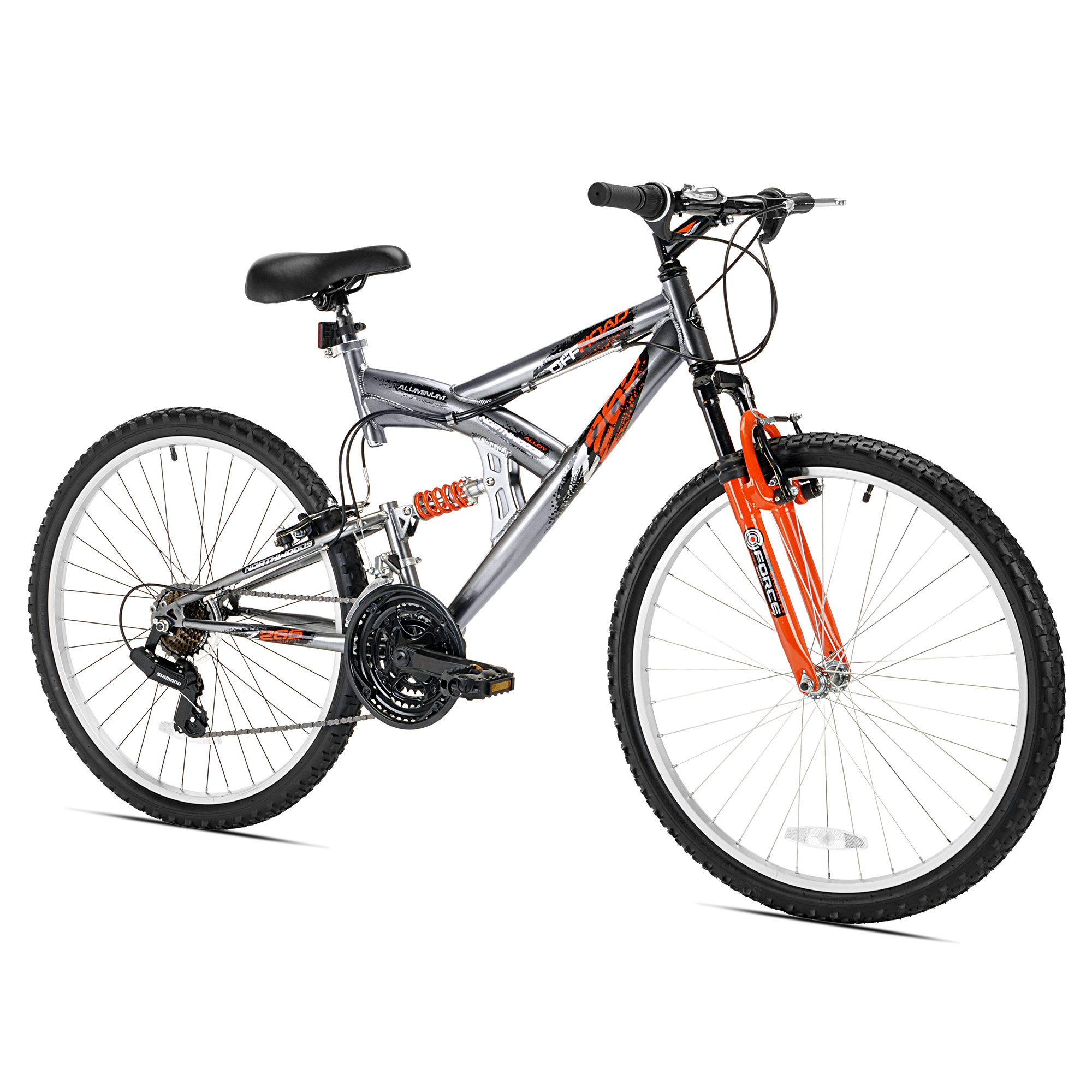 "Northwoods Z265 26"" Men's Dual Suspension 21 Speed Lightweight Mountain Bike"