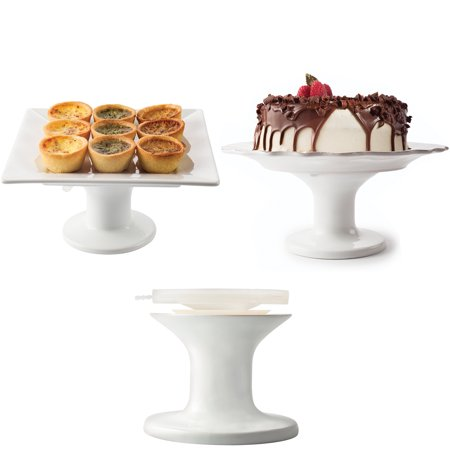 Fusionbrands Serve It UpLarge Cake Plate Stand, Turn Any Plate Into Serving - Make It Plates
