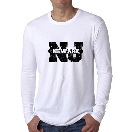Newark, New Jersey NJ Classic City State Sign Men's Long Sleeve
