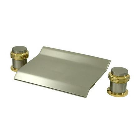 Kingston Brass Milano Double Handle Deck Mounted Roman Tub