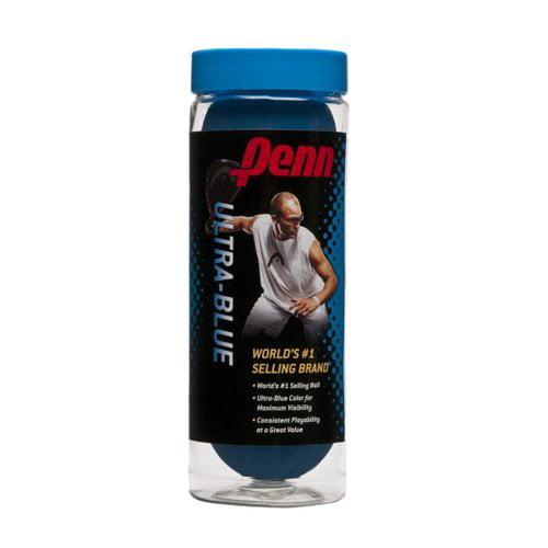Penn 2012 Ultra-Blue Racquetball Balls, 3pk