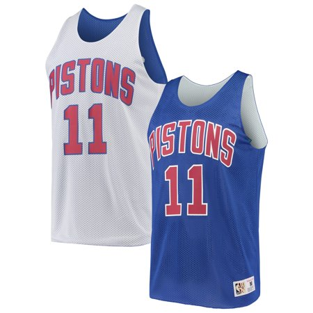 Isiah Thomas Detroit Pistons Mitchell & Ness Hardwood Classics Reversible Tank Top - Blue/White