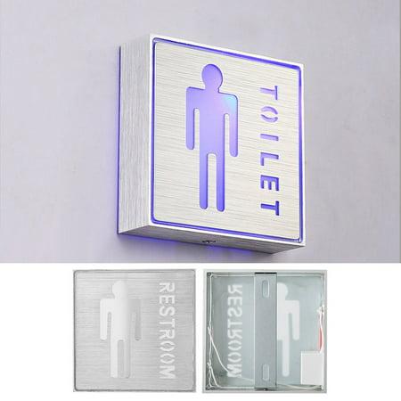 Garosa LED Toilet Sign, LED Man Restroom Sign, Aluminum LED Indicator Safety Instructions Man Male Toilet Restroom Symbol 85-265V - image 7 of 7