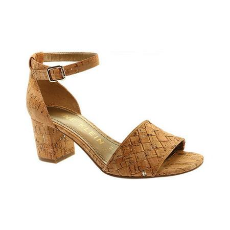 Carine Wooden Block-Heel Sandals